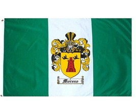 Moreno Coat of Arms Flag / Family Crest Flag - $29.99
