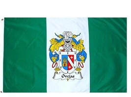 Ovejas Coat of Arms Flag / Family Crest Flag - $29.99