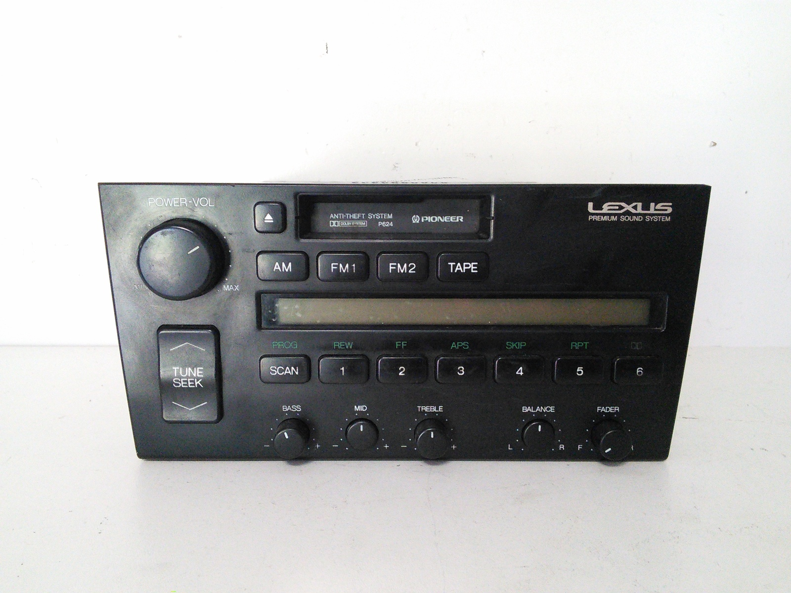 1990 1991 1992 Lexus LS400 Radio Pioneer W O CD Player P624 86120 50020