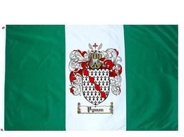 Pyman Coat of Arms Flag / Family Crest Flag - $29.99