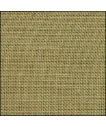 32ct Green Tea hand-dyed Belfast linen 18x27 cr... - $23.85