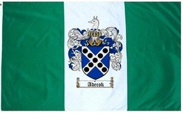 Adecok Coat of Arms Flag / Family Crest Flag - $29.99