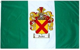 Andre Coat of Arms Flag / Family Crest Flag - $29.99