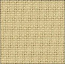 Parchment 14ct Aida Hand Over Dyed 19x17 cross stitch fabric Zweigart - $14.65