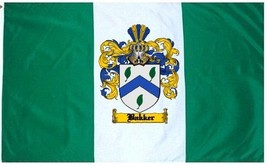 Bakker Coat of Arms Flag / Family Crest Flag - $29.99