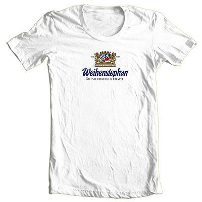 Weihenstephan Bier T shirt German beer Oktoberfest 100% cotton graphic shirt