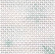 Snowflakes 14ct Aida Hand Over Dyed 35x39 cross stitch fabric Fabric Flair