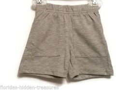 Children's Place Boys 0-3 Months Cotton Shorts Gray Grey Newborn Spring NEW - $7.99