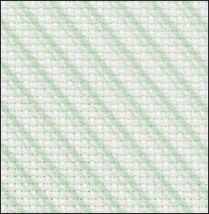 Green Peppermint 14ct Aida Hand Over Dyed 35x19 cross stitch fabric Fabric Fl - $29.70
