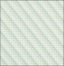 Green Peppermint 14ct Aida Hand Over Dyed 19x17 cross stitch fabric Zwei... - $14.65