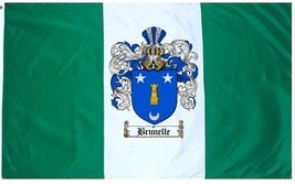 Brunelle Coat of Arms Flag / Family Crest Flag - $29.99