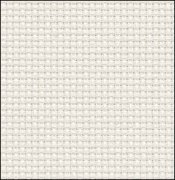 Primary image for White Silver 14ct Aida 19x17 cross stitch fabric Zweigart