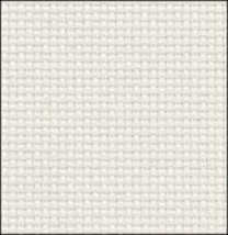 White Silver 14ct Aida 19x17 cross stitch fabric Zweigart - $9.90