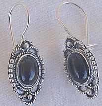 Mini onyx oriental earrings  - $18.00