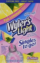 Wyler's Light Pink Lemonade Singles to Go 10 Packets Each Box Four Boxes