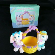 1991 Easter Hallmark Crayola Bunny and Candy Cotton Tail Figurine Basket... - $32.73