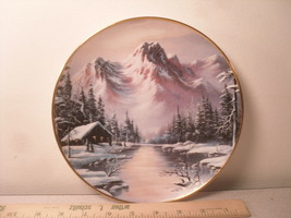 Peaceful Solitude Robert Huff Collector Plate Franklin Mint Snowy Cabin ... - £6.65 GBP