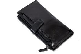 Go Tour Front Pocket Wallet Minimalist Wallet Slim Wallet Genuine Leather 2in 1 - $24.54