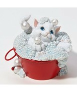 Charming Purrsonalities Bubbling Over With Happiness Cat Figurine Bath E... - $12.16