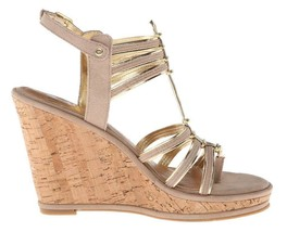 Women's Shoes Dolce Vita TENLEY Gladiator Wedge Sandal Cork Heel Nude Suede - £34.25 GBP