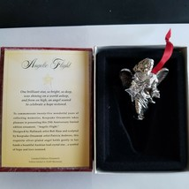 Hallmark Anniversary Limited Ornament Angelic Flight 1998 Silver Plated ... - $35.59