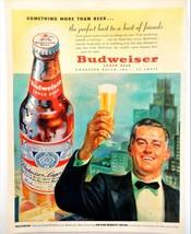 Vtg 1951 Budweiser perfect host man Ken Murray advertisement print ad art  - $8.90