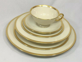 Lenox Tuxedo Gold Rimmed 6 Piece Place Setting - $92.78