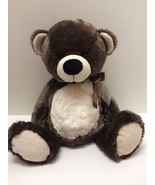 Plush Bear Ultra Soft Salesman Sample Stuffed Animal Brown White 18 inch... - $34.64