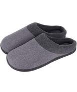 HomeIdeas Men's Woolen Fabric Memory Foam Anti-Slip House Slippers, Autu... - $22.77