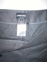 New Womens 10 Giorgio Armani Gray Pants 46 Italy 34 X 35 Tall Wool Designer - $1,248.00