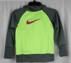 Nike Giovanile Pullover con Cappuccio Maglione Bambini Grigio TAGLIA S - $14.62