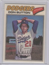 1977 Topps Cloth Stickers #47 Don Sutton - $3.00