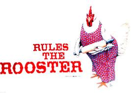 Hen Sweatshirt L White Rooster Farm Humor Crew Neck Unisex Cotton NWT Gi... - $27.27