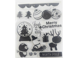 Christmas North Pole Clear Stamp Set with Icons and Sentiments