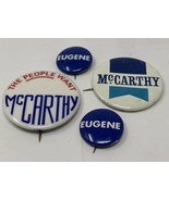 Eugene Mccarthy Pinback Button Lot Of 4 Vintage Original The People Want... - $12.30