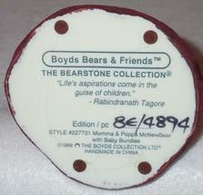 Boyd Bearstone Resin Bears Momma & Papa McNewBear Figurine #227731 8E image 4