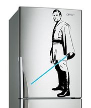 (12'' x 24'') Star Wars Vinyl Wall Decal / Obi Wan Kenobi with Blue Lightsaber D - $19.58