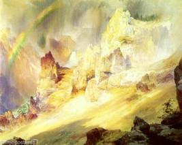 Rainbow Over Grand Canyon Yellowstone American Painting By Thomas Moran Repro - $10.96+