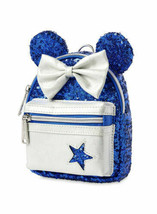 Disney Parks Sorcerer Mickey Loungefly Mini Wristlet Blue Stars Make A Wish - $39.59