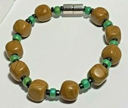 "Magnetic Hematite Bracelet 7 1/2"" Single Strand  (MAG-008) image 1"
