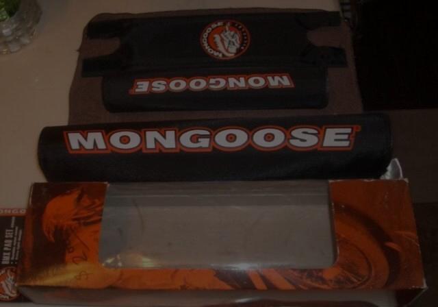 NOS Vintage Mongoose BMX Bicycle Pad Set of 3 Velcro Nylon pads.  - $19.99