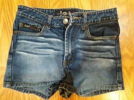 Women L.e.i. Blue Denim Shorts Size 12 slim - $15.83