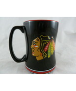 Chicago Blackhawks Coffee Mug Relief Sculpted Team Color Logo 14 oz NHL ... - $14.84