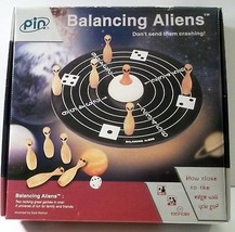 Balancing Aliens Spaceship Dance Game Wood Pins Many Languages Directions - $16.82
