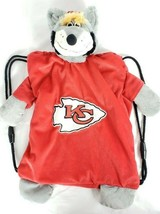 Kansas City KC Chiefs Backpack Pal For Kids Plush Wolf Animal Red NFL Fo... - $24.74