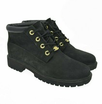 Timberland Sz 7M Black Suede Leather Boots Women's Luxury Comfort Ankle ... - $45.99