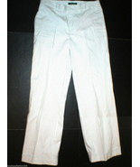 Womens Lauren Ralph Lauren Slacks Pants Black White Stripes 6 Work Play ... - $50.00