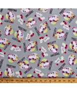Cotton Unicorns Despicable Me Kids It's So Fluffy Gray Fabric Print BTY ... - $11.95