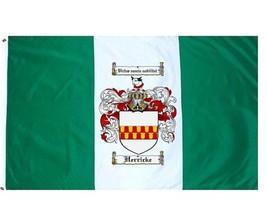 Herricke Coat of Arms Flag / Family Crest Flag - $29.99