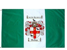 Hertleye Coat of Arms Flag / Family Crest Flag - $29.99